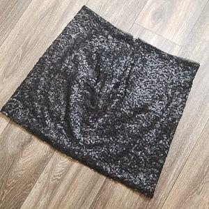 Bisou Bisou Sparkle Sequin Black Skirt